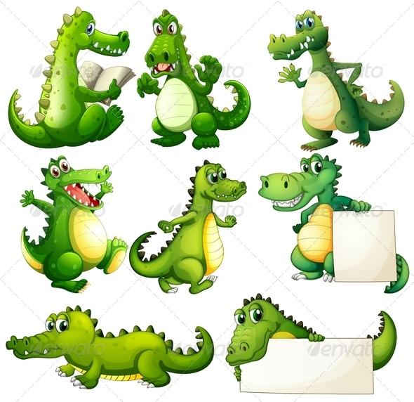 GraphicRiver Eight Crocodiles 7869797