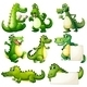 Eight Crocodiles - GraphicRiver Item for Sale