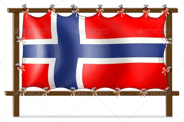 Frame with the flag of Norway