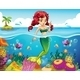Mermaid in the Sea - GraphicRiver Item for Sale