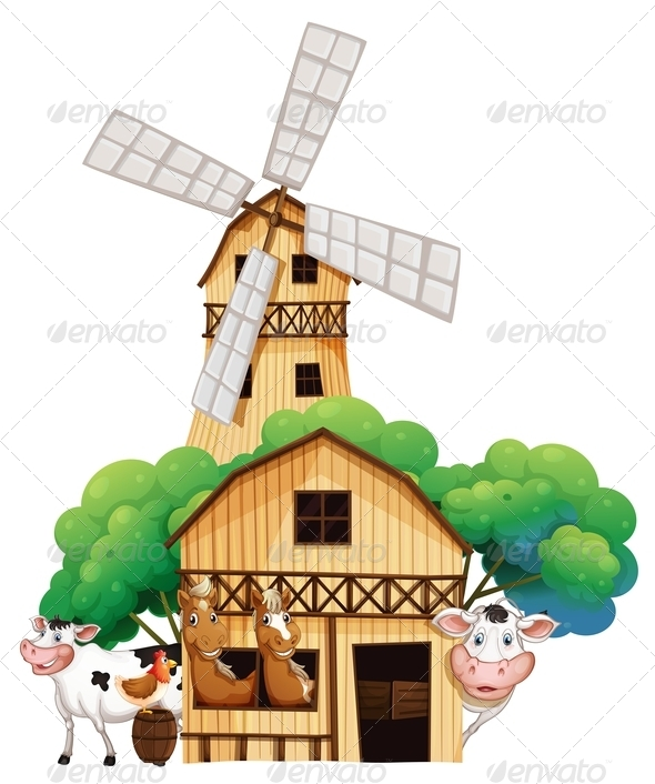 Barn with Animals
