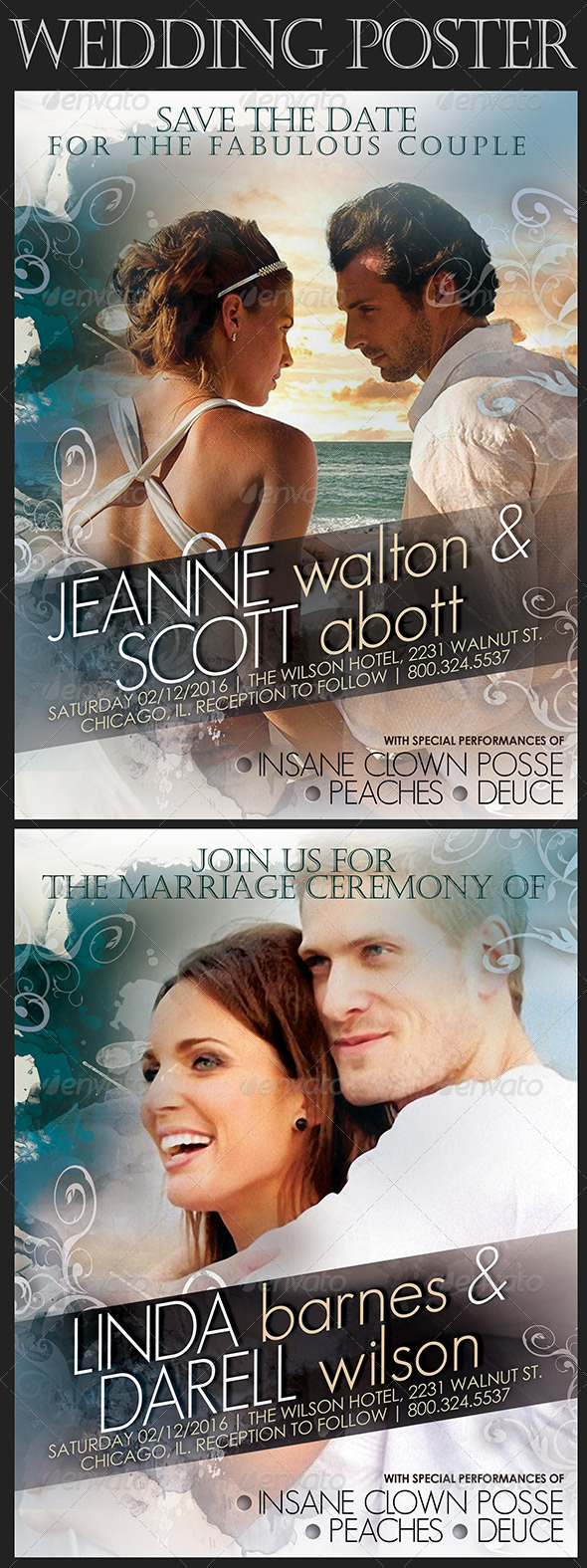 GraphicRiver Wedding Poster in Movie Style 7869992