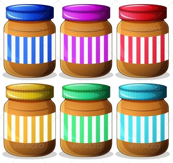 Six jars of peanut butter
