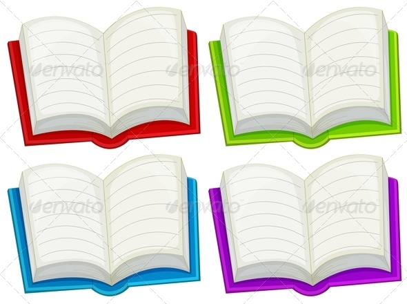 GraphicRiver Colorful empty books 7870006