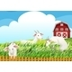 Farm with three goats - GraphicRiver Item for Sale