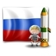 Explorer and Rocket with Russian Flag  - GraphicRiver Item for Sale