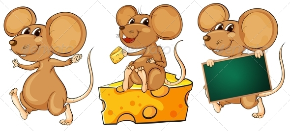 GraphicRiver Three playful mice 7870133