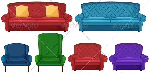 Collection of different chairs