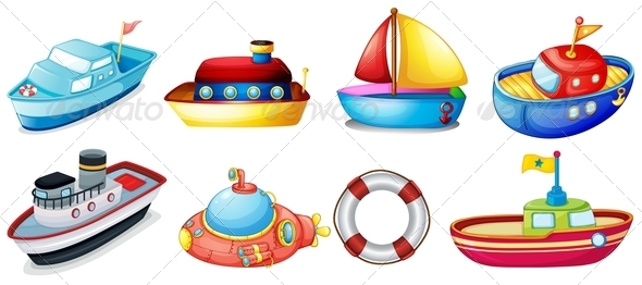 GraphicRiver Collection of toy boats 7870145