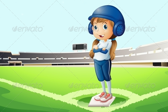 GraphicRiver Baseball player on the field 7870153