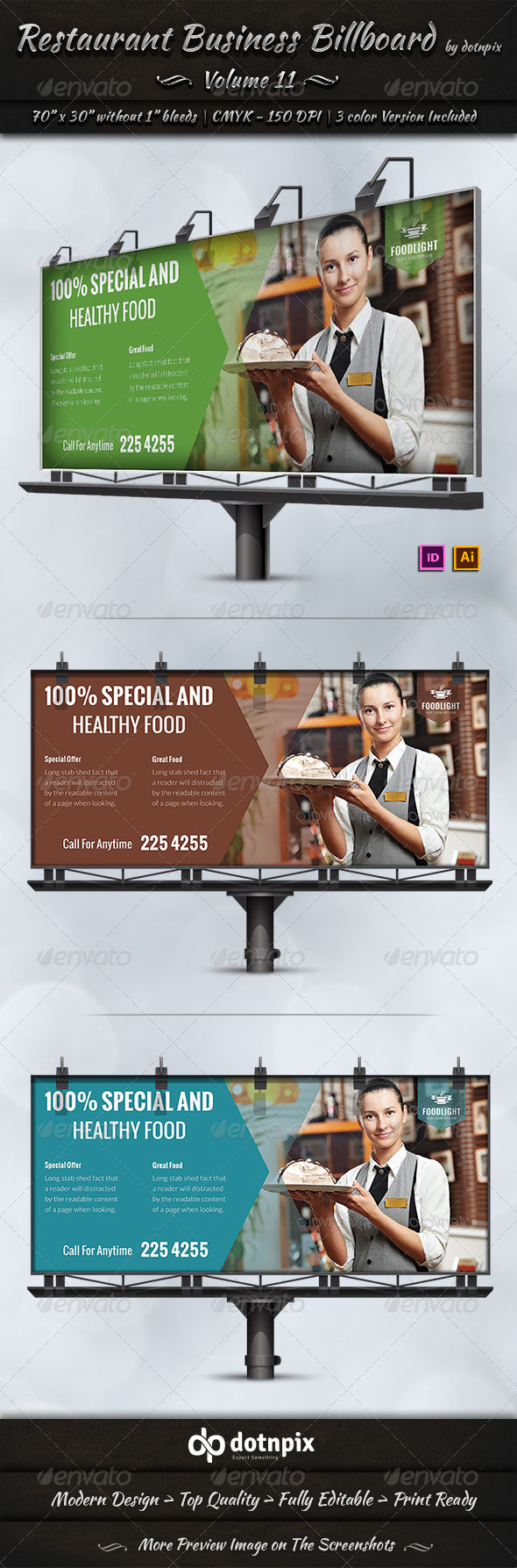 GraphicRiver Restaurant Business Billboard Volume 11 7870206