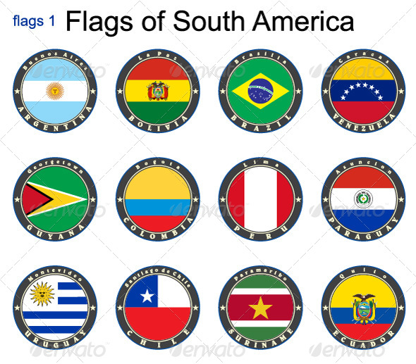 GraphicRiver World Flags South America 7870440