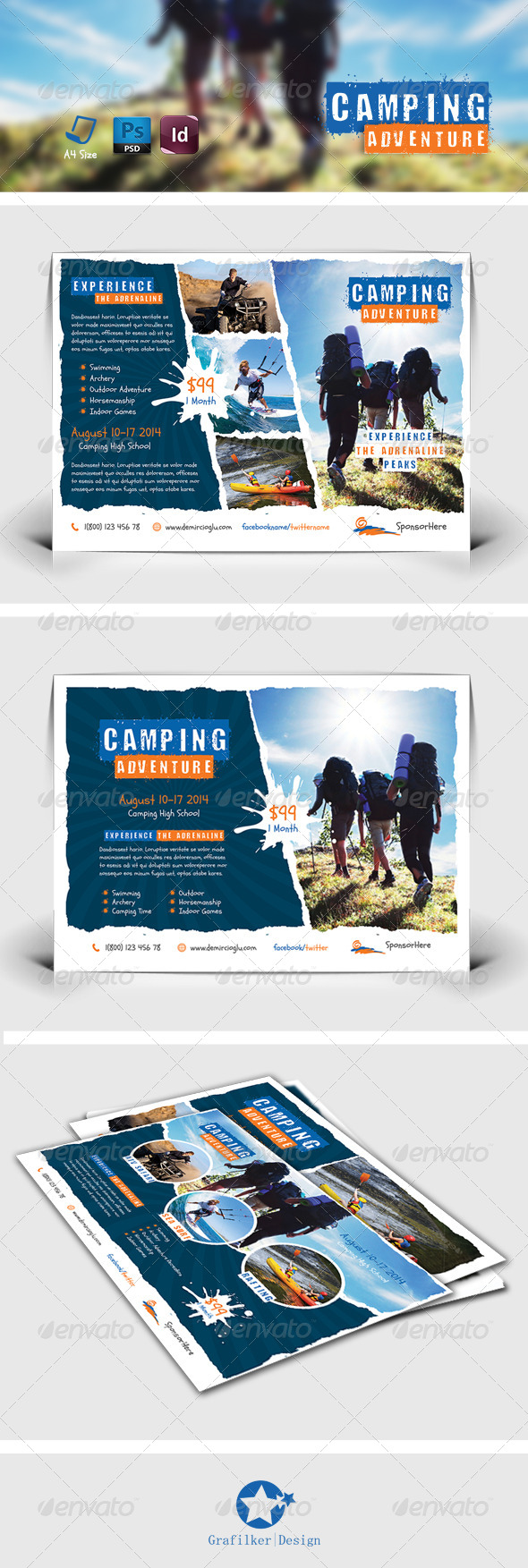 GraphicRiver Camping Adventure Flyer Templates 7870443