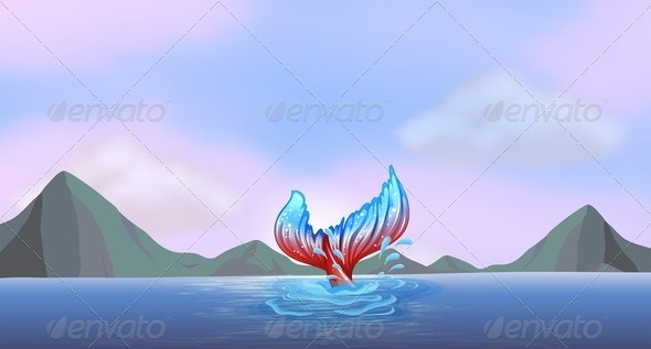 GraphicRiver Tail of a mermaid 7870491