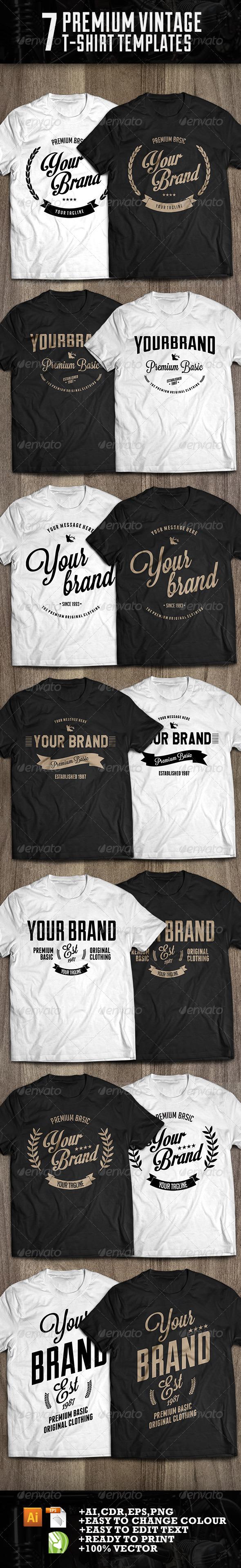 7 premium t-shirt template