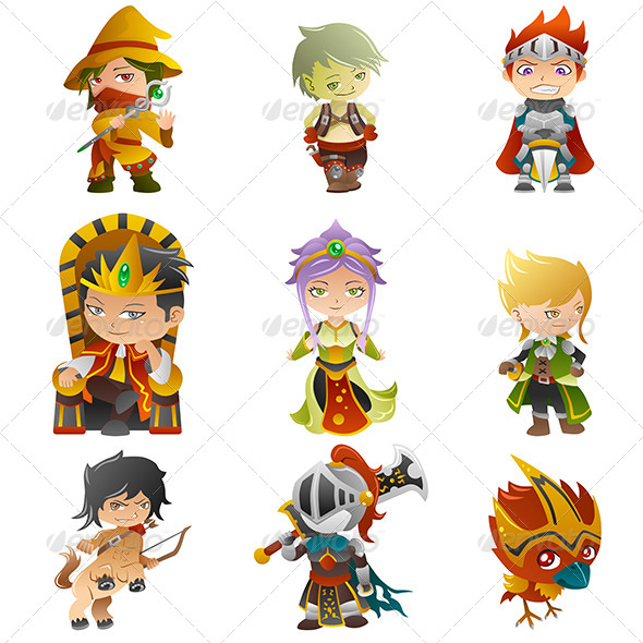 GraphicRiver Fantasy Avatar Icons 7871035