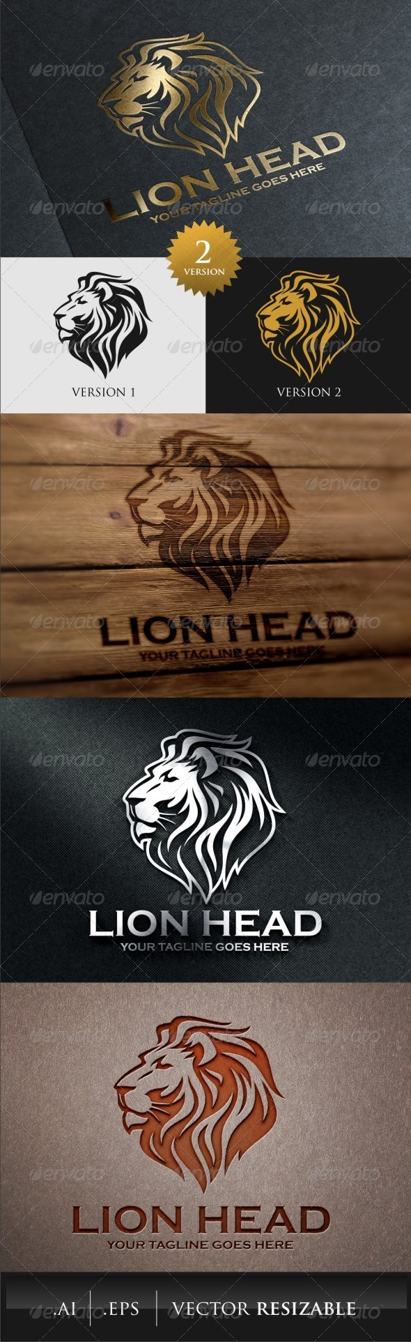GraphicRiver Lion Head Logo Template 7871118