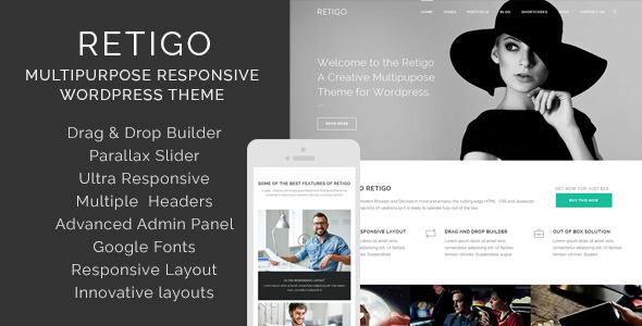 Retigo Creatve Multipurpose Wordpress Theme