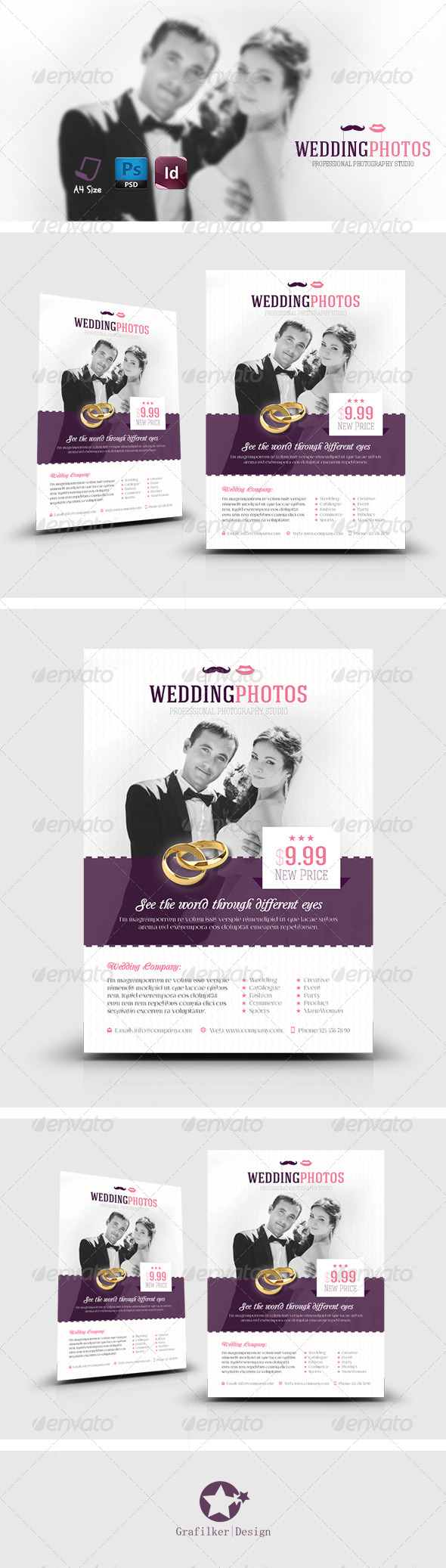 GraphicRiver Wedding Flyer Templates 7871337