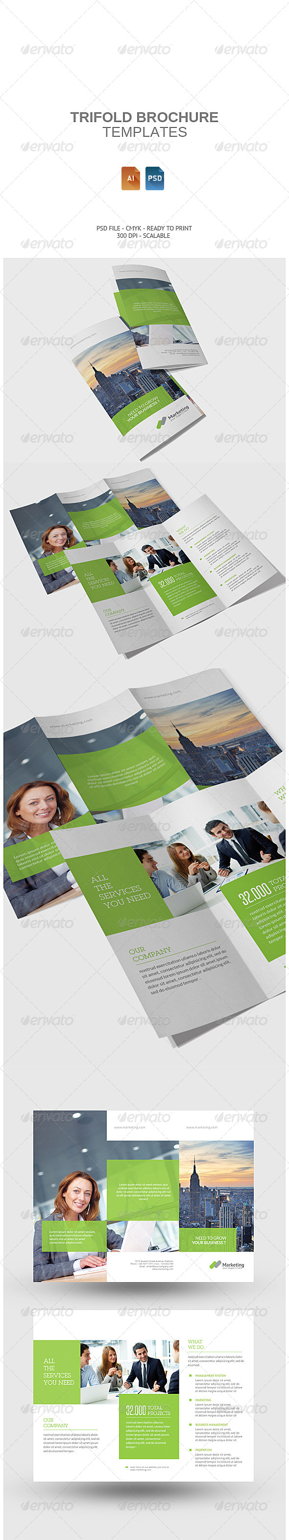 GraphicRiver Corporate Tri-fold Brochure 7871434