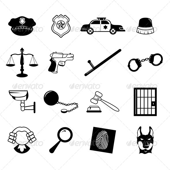 GraphicRiver Law Enforcement Icons 7871670