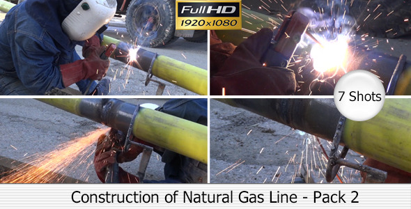 Stock Footage Video Construction of Natural Gas Line