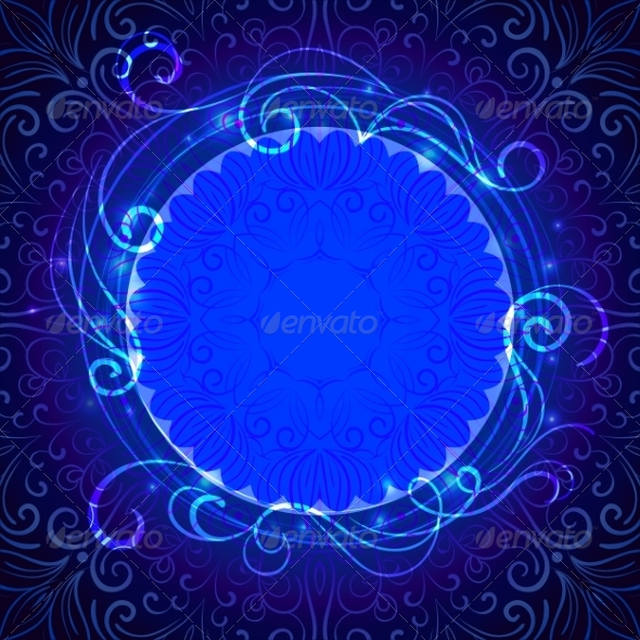 GraphicRiver Abstract Blue Mystic Lace Background 7872019