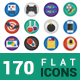 Flatistic - 170 Trendy Flat Icons - GraphicRiver Item for Sale