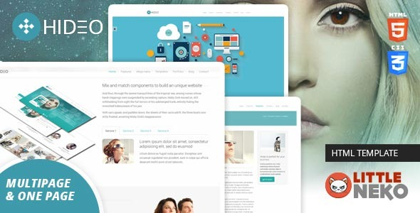 Hideo   HTML5 Bootstrap Website Template