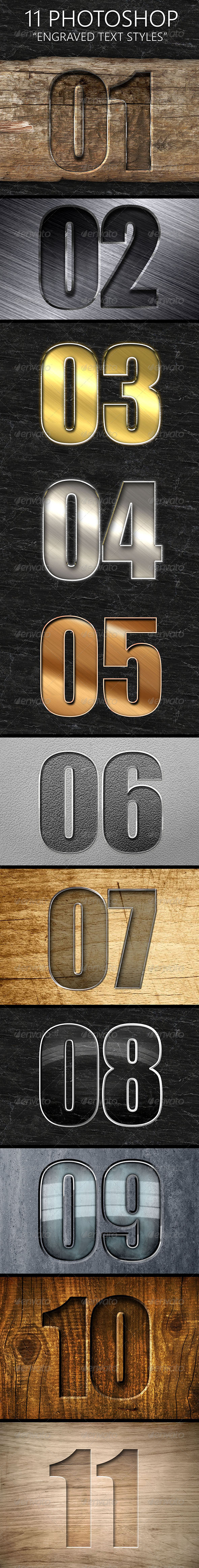 GraphicRiver 11 Engraved Text Styles 7864273