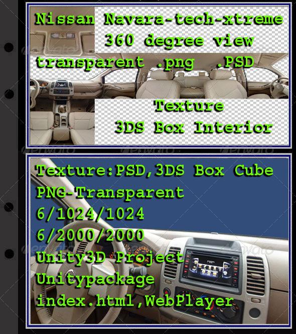 3DOcean Nissan Navara Interior 7854309