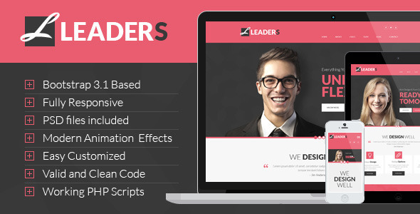 ThemeForest Leaders Multipurpose HTML Template 7855148