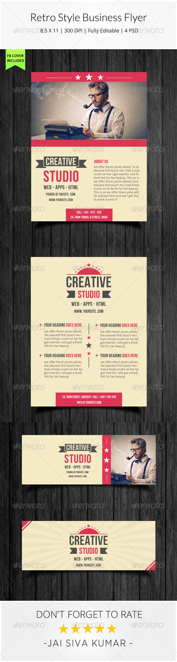 GraphicRiver Retro Style Business Flyer 7872701