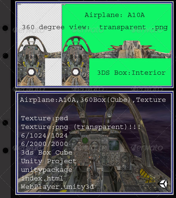 3DOcean Airplane A10A interior 7872869