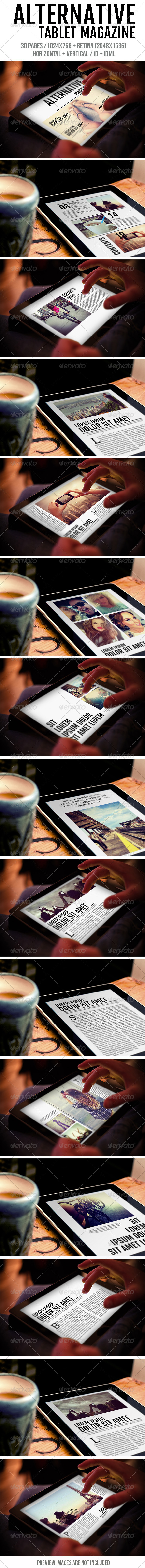 GraphicRiver Tablet Alternative Magazine 7872999