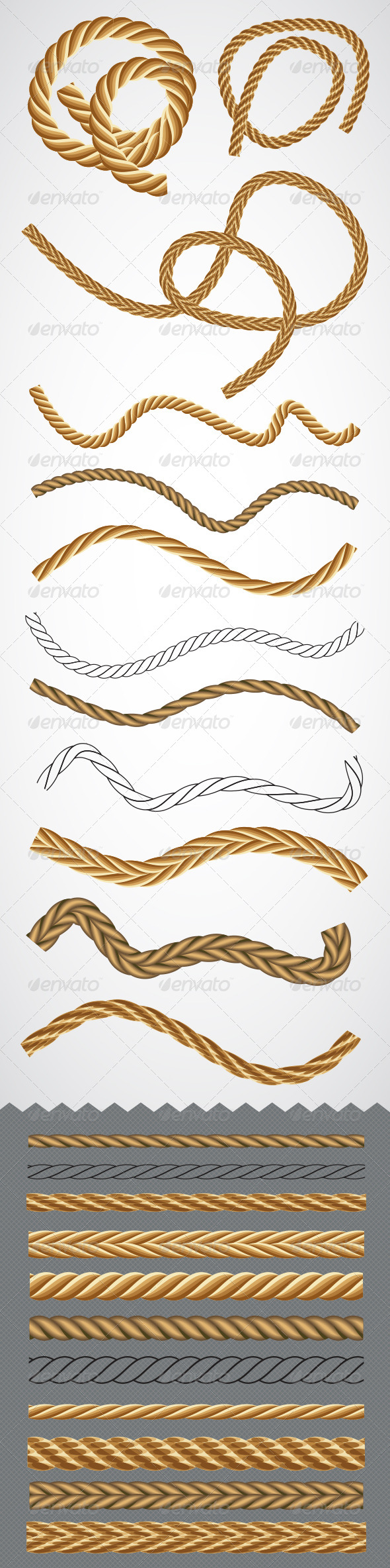 GraphicRiver Vector Rope Graphic Styles 7864893