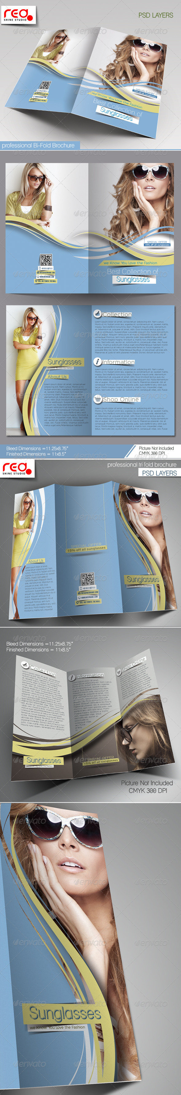 GraphicRiver SunGlasses Fashion Store Brochure Template 7873059