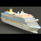 High-Poly cruise ship (with textures) - 3DOcean Item for Sale