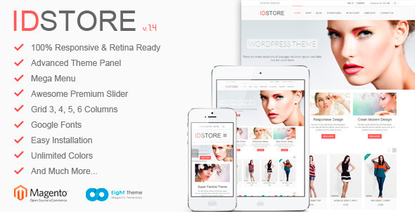 IDStore - Responsive Multi-Purpose Magento Theme - Magento eCommerce
