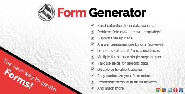 CodeCanyon WordPress Contact Forms Plugin 7848669