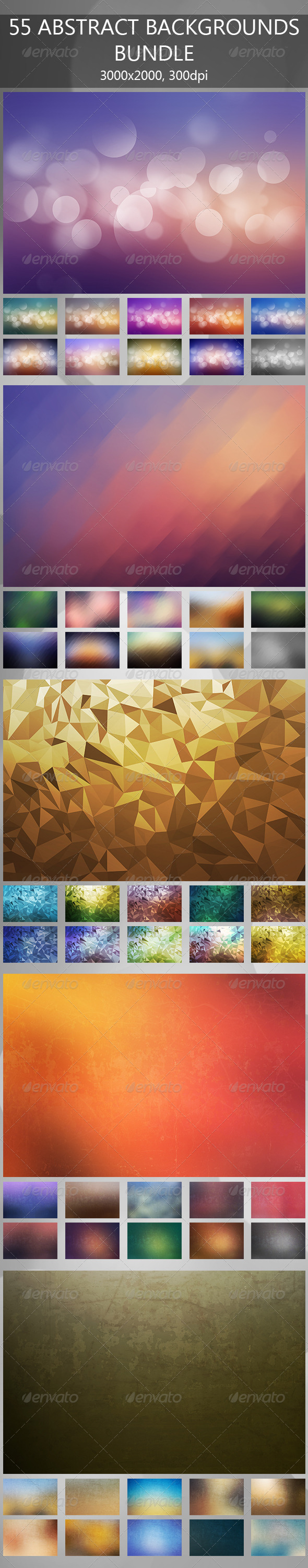 GraphicRiver 55 Abstract Backgrounds Bundle 7873101