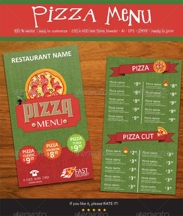 GraphicRiver Pizza Menu 7812090
