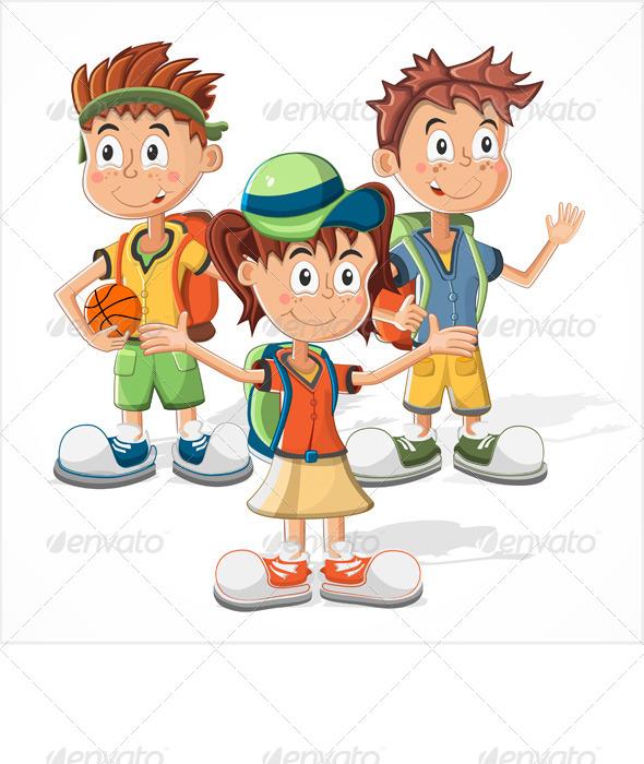 GraphicRiver Schoolchildren 7873358
