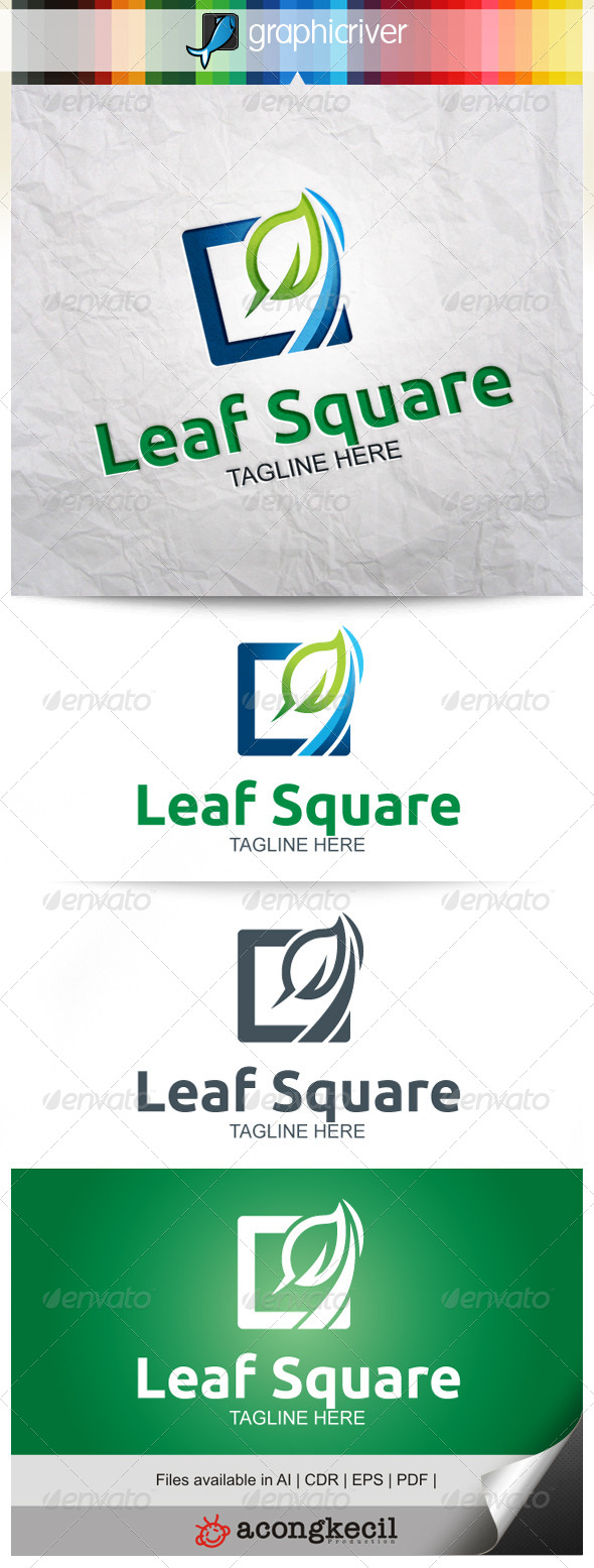 GraphicRiver Leaf Square 7873455