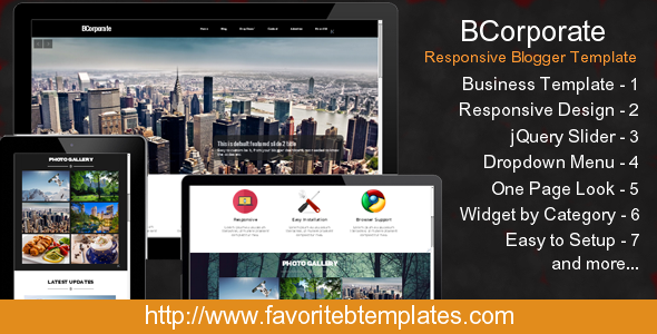 ThemeForest BCorporate Responsive Blogger Template 7873461