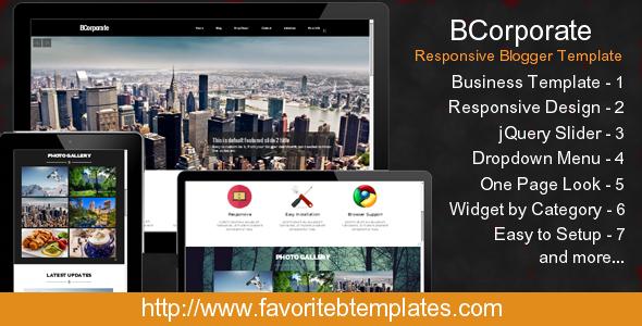 BCorporate - Responsive Blogger Template - Blogger Blogging