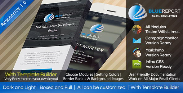 ThemeForest BlueReport Responsive Email With Builde 7843974