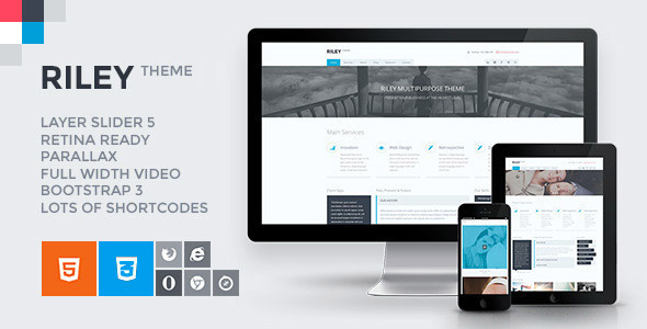 RILEY - Responsive Html5 Css3 Themes