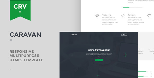 Caravan - Responsive Multipurpose Template  - Corporate Site Templates