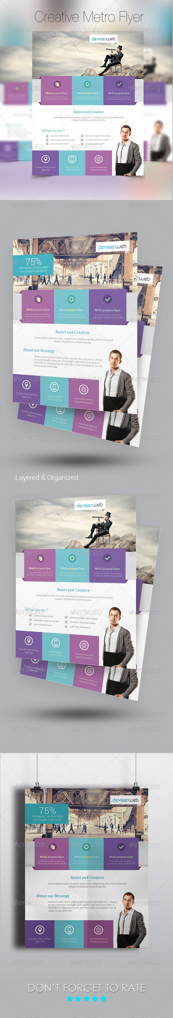 GraphicRiver Creative Metro Style Business Flyer 7873612